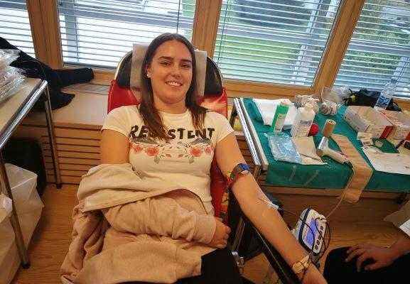 Študenti na krvodajalski akciji